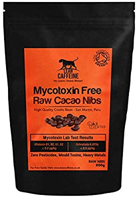 Organic Raw Cacao Nibs 200 Gram | No Pesticides, Heavy Metals Or Mould Toxins | Use in Bulletproof Coffee & Keto Chocolate | Lean Caffeine Bulletproof Cacao Nibs 200 Gram from Lean Caffeine