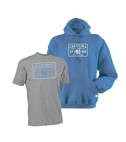 NCAA North Carolina Sweatshirt und Tee Combo Pack, Herren