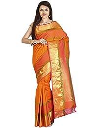 The Chennai Silks - Kanjivaram Silk Saree - Exuberamnce Orange - (CCMYSS6400)