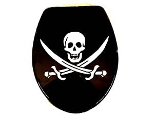 Abattant wC abattant wC abattant pour toilettes-motif pirate tête de mort gris