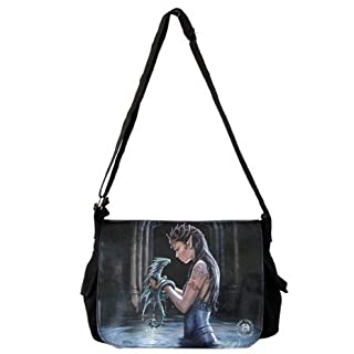 ANNE STOKES WATER DRAGON GYM UNI SCHOOL MESSENGER BAG GOTHIC MEDIEVAL BAG NOW0996