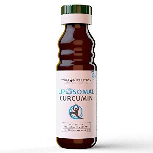 Yoga Nutrition Liposomales Curcumin | Hohe Bioverfügbarkeit | Neueste Formel ohne Zusatzstoffe | 95% Curcuminoide aus Curcuma | Vegan, Sojafrei, Nahrungsergänzung - Kräuter-diät-pille