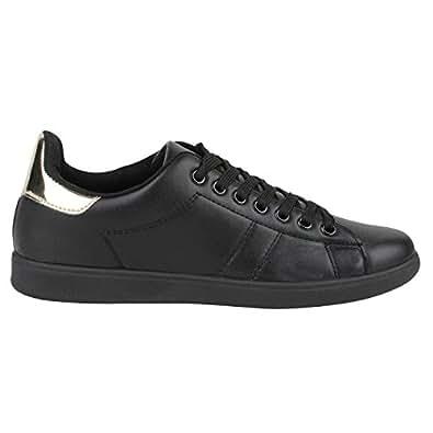 Japado , Sneakers Basses femme - - All Schwarz Gold, 36