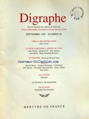 DIGRAPHE [No 49] du 01/09/1989 - VERS LA...