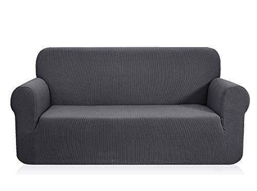 CHUN YI 1-Stück Jacquard Sofaüberwurf, Sofaüberzug, Sofahusse, Sofabezug für Sofa, Couch, Sessel, mehrere Farben (2 Sitzer, Grau)