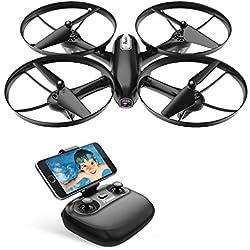 Potensic RC Drone Cuadricóptero FPV, WiFi, Dron con Cámara HD 720P, Camera y Vídeo en Tiempo Real, para Niños y Principantes, Mantenimiento de Altitud, Modo sin Cabeza, etc, U47 Mejorado