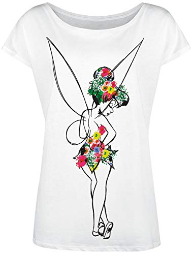 Peter PAN Tinker Bell - Flower Power T-Shirt weiß M