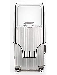 OrgaWise Luggage Cover en PVC Transparent pour Bagages de 22 à 28 Pouces, Résistant à l'eau et à La Poussière, Envoyez Une Étiquette de Bagage Gratuite