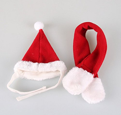 pet-products-hot-cute-handsome-christmas-red-dog-hat-scarf-suit-suit-m