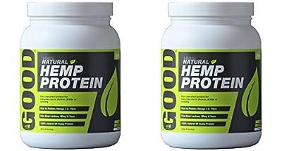 (2 PACK) - Hemp Hemp Natural Protein Powder Original 47% Protein| 500 g |2 PACK - SUPER SAVER - SAVE MONEY by Braham And Murray