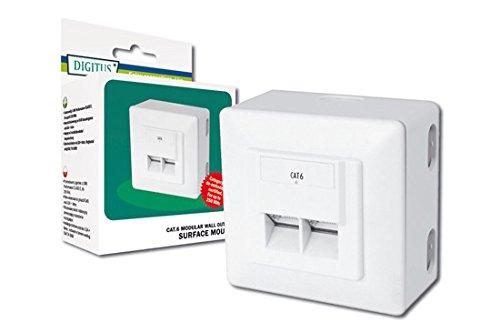 DIGITUS Professional - Toma de pared red Cat 6 - DN-9006-N - 1 Gbit - Montaje en superficie - Instalación de cable horizontal