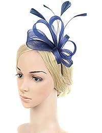 Easy Go Shopping Fascinators delle donne Cappello Fiore Mesh Feathers Fascia  copricapo Accessori per capelli per 4309ec8ac864