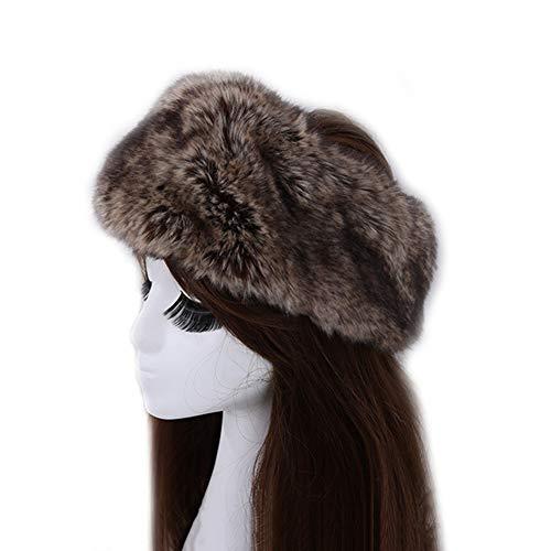 WANGLAI Premium Frauen Fellimitat mit Stretch, Winter Earwarmer Ohrenschützer