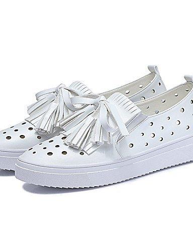 ShangYi gyht Scarpe Donna-Sneakers alla moda-Ufficio e lavoro / Sportivo / Casual-Punta arrotondata-Piatto-Finta pelle-Bianco / Argento Silver