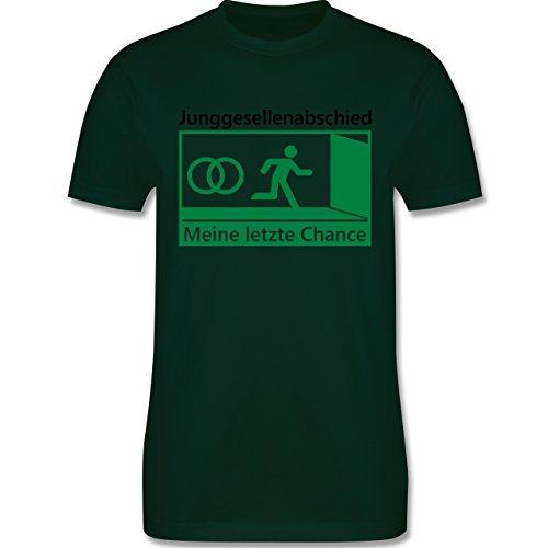 JGA Junggesellenabschied - Meine letzte Chance - Herren Premium T-Shirt Dunkelgrün