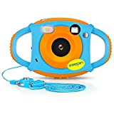 ZEEPIN Caméra Enfant, Appareil Photo Numérique 1080P HD Antichoc Rechargable avec Ecran LCD 1.77 Pouces, Effet Filtre 7 Couleurs pour Garçons Filles (Carte SD Non Inclus)