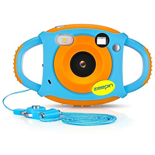 ZEEPIN Caméra Enfant, Appareil Photo Numérique 1080P HD Antichoc Rechargable avec Ecran LCD 1.77...