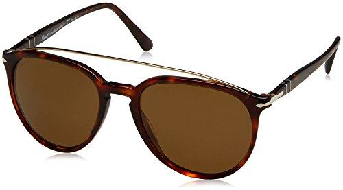 Persol Herren 0Po3159S 901557 55 Sonnenbrille, Braun (Havana/Polarbrown),