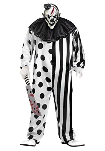 Killer Clown Plus Size Fancy Dress Costume 3X