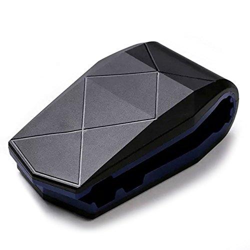 Toperek, supporto per telefono da auto, con antiscivolo, portacellulare universale da cruscotto o parabrezza, con ventosa, per Apple iPhone 7Plus e 6S, Samsung Galaxy, telefoni Android Black Blue