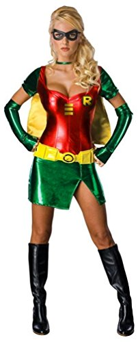 Damen Kostüm Sexy Robin-Superheld Batman SideKick Fancy Dress Damen Kostüm