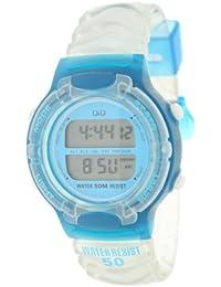 Reloj digital Señora/Caballero Q&Q Mod.DR-12J-555 - 2 Alarmas, Crono, Timer, Luz, Dual Time- Correa de resina