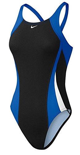 Nike Ness7051-494 Damen Competition Badeanzug, blau, DE: 40 - Nike Damen Badeanzug