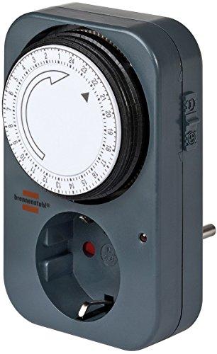 Brennenstuhl Mechanische Zeitschaltuhr MZ 20, 1506450 (3 Stück, Schwarz)