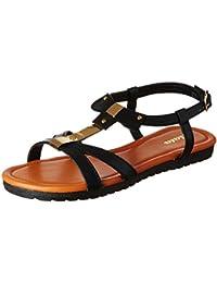 BATA Women's Jenny Black Fashion Sandals - 5 UK/India (38 EU)(5616402)