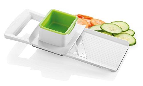 Tescoma 643852 Rallador rodajas Regulable, De plástico, Verde, Blanco