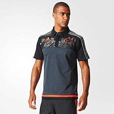 2015-2016 Munster Adidas Rugby Players Media Polo Shirt (Grey)