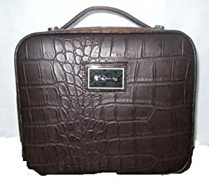Elemis Brown Crocodile Patterned Make Up Vanity Case
