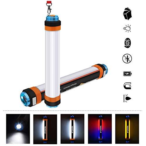 Wiederaufladbare Mini-USB-Campinglaternen mit hängenden magnetischen Notfall-PAS-Leuchten, Moskito-Abwehrmittel, magnetisches Camp-Licht, wasserdichte Lampe mit 5200 mAh-Powerbank für Outdoor-Wandern