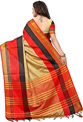 SRETAN-Cotton-Silk-Saree-With-Blouse-Piece