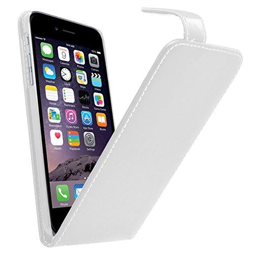 Samrick Leder Flip Schutzhülle für Apple iPhone 6 lila Weiß