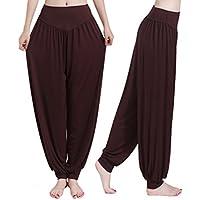 LAAT 1PCS Ropa de Yoga Marrón Pantalones de Yoga Modal Pantalones de Cierre para Mujeres