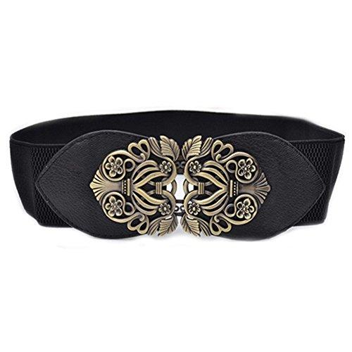 Bluelans® Women's Fashion Retro Vintage Wide Elastic Stretch Waist Belt Waistband Dress Belts