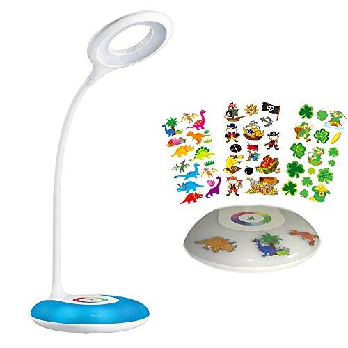 Lampe de bureau LED, HIHIGOU Dimmable LED Lampe de Lecture 3.2W, USB Rechargeable et Flexible, champ tactile pour la lumière de couleur et 3 niveaux de luminosité réglable, Protection vos yeux (Blanc)