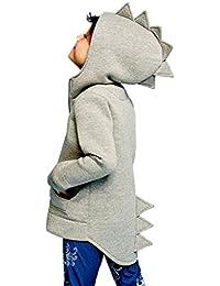 Niños bebé abrigos chaqueta calle ropa,Yannerr chico dinosaurio estilo sombreros con capucha capa