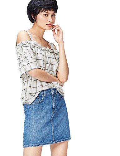 21e5113621 FIND Blusa con Spalla Scoperta a Quadri Donna | Prezzi e Offerte | Market  Patentati