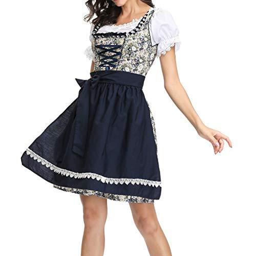 Taverne Erwachsene Kostüm Für Mann - Oktoberfest Damen,Oktoberfest Dienstmädchen Kostüm Kostüm Frauen 3 Stück Dirndl Kleid Bayerisches Bierfest Cosplay Kostüme (Schwarz, M)