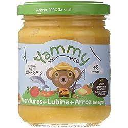 Yammy, Potito Ecológico de Pescado (Verduras, Lubina y Arroz Integral) - 12 de 195 gr. (Total 2340 gr.)
