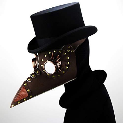 RngY Steampunk europäische und amerikanische Pest-langhaarige Mund-Doktor Halloween-Halloween-Schablone gotische Cosplay Stützgeschenk-2 der Partei