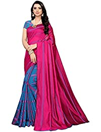 Anni Designer Women's Cotton Silk Blend Lining Saree With Blouse Piece(ZEBRA-Colors_Free Size)