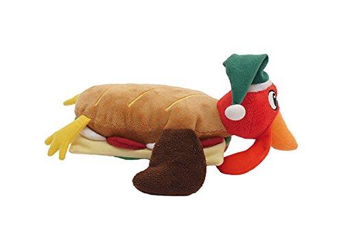 'Rosewood Hundespielzeug Plüsch Türkei Club Sandwich, Maurerkelle