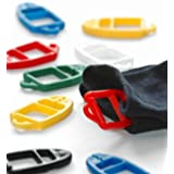 Pinces à chaussettes SUPI – brevet malin de Finlande – 15 pièces en trois couleurs: rouge - jaune - bleu