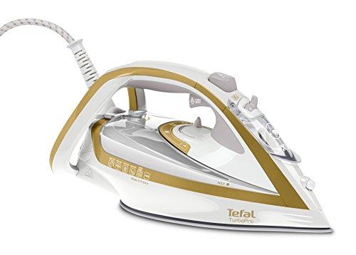 Tefal Turbo Pro Precision FV5625 Dampfbügeleisen (2600 Watt, extra Dampfstoß 210 g/min, 0,3 Liter) gold/weiß
