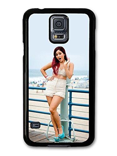 Ariana Grande On The Beach Popstar Singer hülle für Samsung Galaxy S5