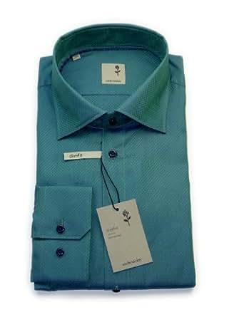 Seidensticker Hemd schwarze Rose slimfit grün Gr. 40 / 01.227188.54 / E.6