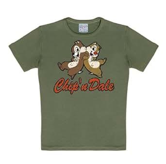 Logoshirt Unisex Baby 80/86 Kids Disney Chip-n-Dale T-Shirt Olive 18 Months